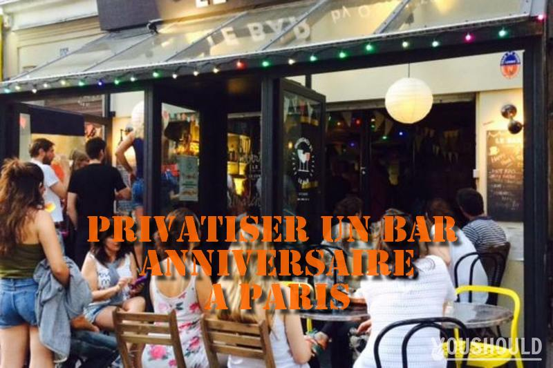 privatisation bar anniversaire à paris